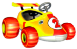 Artwork of a Car in Diddy Kong Racing