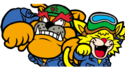 Dribble and Spitz's portrait from WarioWare: D.I.Y. Showcase