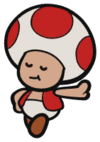 Love Toad in Paper Mario: The Origami King
