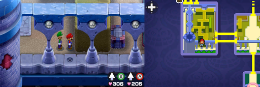 Location of the third beanhole in Peach's Castle.