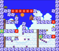 Level 7-5 map in the game Mario & Wario.