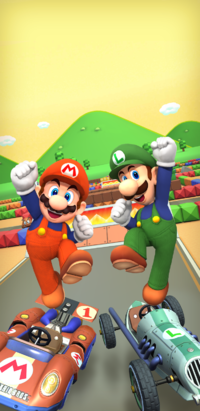 The Mario Bros. Tour from Mario Kart Tour
