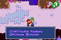 Mario's Dash in Mario & Luigi: Superstar Saga and Mario & Luigi: Superstar Saga + Bowser's Minions.