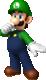 Artwork of Luigi in Mario Party: Island Tour (also used in Mario Kart Tour)