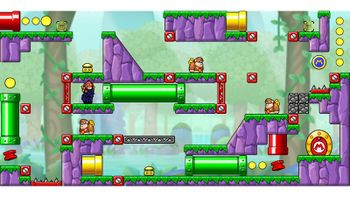 Miiverse screenshot of the 46th official level in the online community of Mario vs. Donkey Kong: Tipping Stars