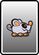 A Scardey Rat card from Paper Mario: Color Splash