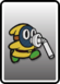 A Yellow Slurp Snifit card from Paper Mario: Color Splash