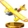 Plane trophy from Super Smash Bros. for Wii U
