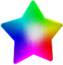 Render of a Rainbow Star in Super Mario Galaxy.