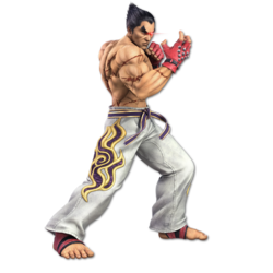 Artwork of Kazuya from Super Smash Bros. Ultimate