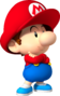 Artwork of Baby Mario for Mario Kart Wii (also used in Mario Super Sluggers and Mario Kart Tour)