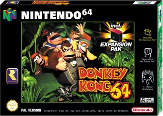 The front European cover for Donkey Kong 64