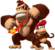 Artwork of both Donkey Kong with Diddy Kong for Donkey Kong Country Returns