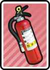 A Fire Extingisher Card in Paper Mario: Color Splash.