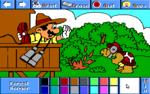 Mario as a forest ranger.