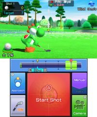 Approach Practice in golf in Mario Sports Superstars