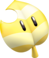 Artwork of an Invincibility Leaf from Super Mario 3D World.