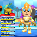 An Emerl costume for Miis in the Wii version of Mario & Sonic at the London 2012 Olympic Games.