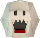 An origami Boo from Paper Mario: The Origami King.