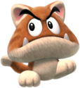 A Goomba with cat-like features from Super Mario 3D World + Bowser's Fury. It is not to be confused with a Cat Goomba, a similar-looking enemy with different abilities from the original Wii U game.