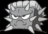 A Pouncer, as seen in Wario Land: Super Mario Land 3 artwork.