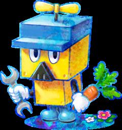 Brickle artwork from Mario & Luigi: Dream Team