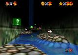 Mario in the Cavern of the Metal Cap.