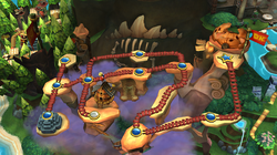 Map of Cliff in Donkey Kong Country Returns