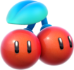 Artwork of a Double Cherry, from Super Mario 3D World.