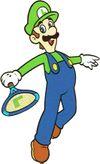 Mario Tennis artwork of Luigi.