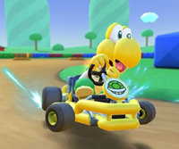 The icon of the Daisy Cup challenge from the Peach vs. Daisy Tour in Mario Kart Tour.