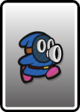 A Blue Snifit card from Paper Mario: Color Splash