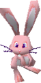A pink rabbit in Super Mario 64 DS