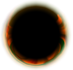 The sprite (by technical definition, even if it is incredibly large) of the black hole obstacle in Super Mario Galaxy.