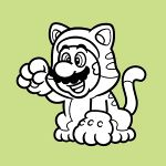 The icon for Colour in Cat Mario from Nintendo Kids Club