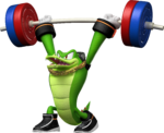 Artwork of Vector Weightlifting from Mario & Sonic at the London 2012 Olympic Games