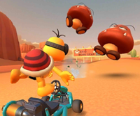 The icon of the Baby Mario Cup challenge from the 2019 Winter Tour and the Hammer Bro Cup challenge from the Los Angeles Tour in Mario Kart Tour