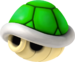 Artwork of a Green Shell, from Mario Kart Wii.