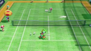 A Drop Shot in Mario Tennis: Ultra Smash.