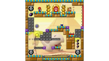 Miiverse screenshot of the 4th official level in the online community of Mario vs. Donkey Kong: Tipping Stars