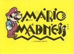 """A sticker of Mario standing next to a logo, """"Mario Madness!"""" from the Nintendo Game Pack tip card #21"""