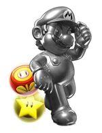 Image of Metal Mario, from Puzzle & Dragons: Super Mario Bros. Edition.