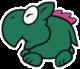 Wild Dino Rhino sprite from Paper Mario: Color Splash