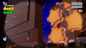 Hidden Luigi in Cookie Cogworks in Super Mario 3D World.