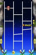 Mario's Slides in Super Mario 64 DS (left) and New Super Mario Bros. (right)