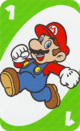 The Green One card from the UNO Super Mario deck (featuring Mario)