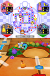 Princess Daisy approaching a Hex in Mario Party DS, from the board Wiggler's Garden.