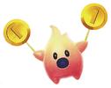 Artwork of a Hungry Coin Luma from Super Mario Galaxy 2
