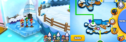 Location of the second item patch in Mount Brrr.