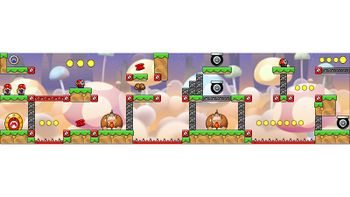 Miiverse screenshot of the 71st official level in the online community of Mario vs. Donkey Kong: Tipping Stars